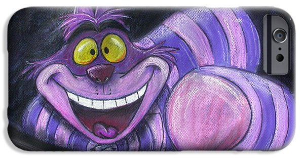 Alice In Wonderland iPhone Cases - Cheshire Cat iPhone Case by Andrew Fling
