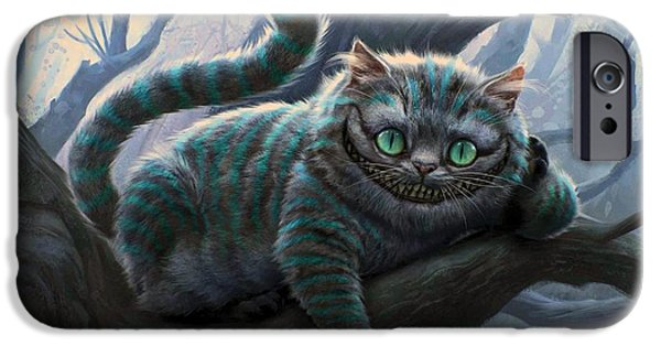 Tea Party iPhone Cases - Cheshire Cat iPhone Case by Movie Poster Prints