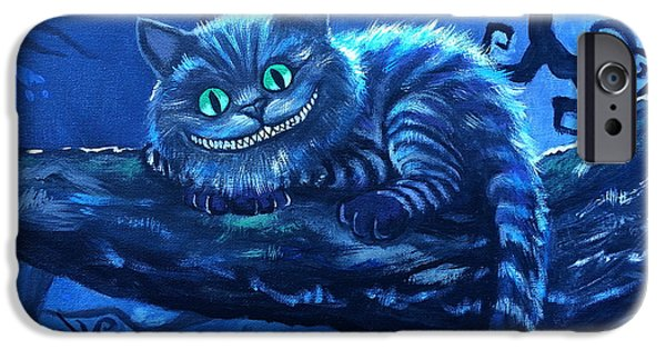 Best Sellers -  - Alice In Wonderland iPhone Cases - Cheshire Cat iPhone Case by Tom Carlton