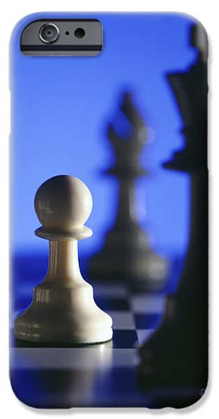 Strategy iPhone Cases - Chess pieces iPhone Case by Tony Cordoza