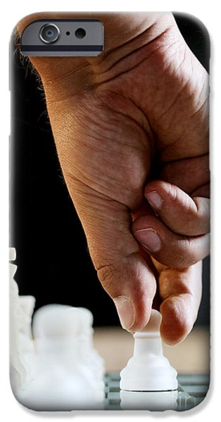 Chess Players iPhone Cases - Chess Player iPhone Case by Jana Behr