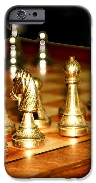Chess Set  iPhone Case by Diane Merkle
