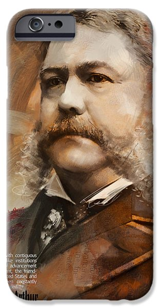 Thomas Jefferson Paintings iPhone Cases - Chester A. Arthur iPhone Case by Corporate Art Task Force