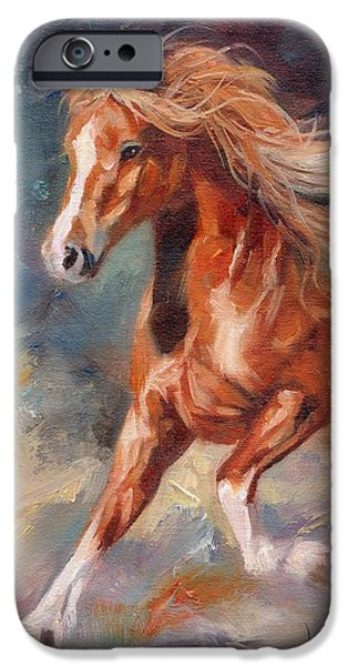 Horse Artist iPhone Cases - Chestnut Beauty iPhone Case by David Stribbling