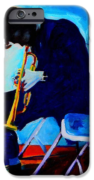 Celebrities Art Paintings iPhone Cases - Chet Baker iPhone Case by Vel Verrept