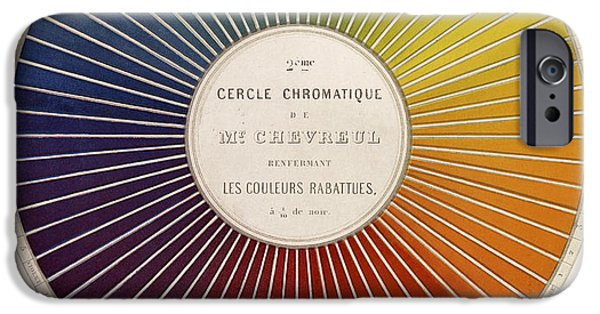 Chromatic Contrasts iPhone Cases - Chevreuls Chromatic Circle iPhone Case by Getty Research Institute