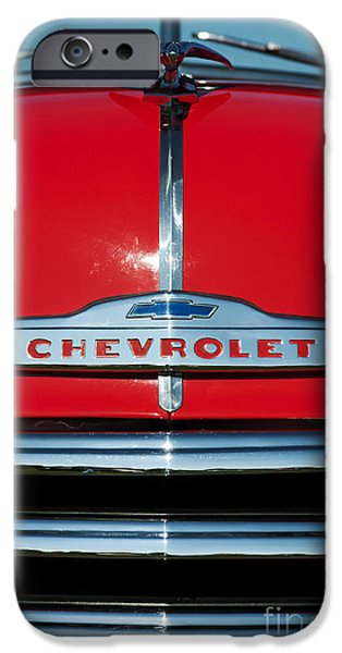 Red Abstract iPhone Cases - Chevrolet 3100 1953 Pickup iPhone Case by Tim Gainey