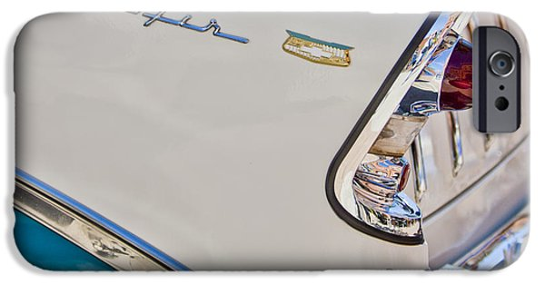 Historic Vehicle iPhone Cases - Chevrolet Bel-Air Taillight iPhone Case by Jill Reger