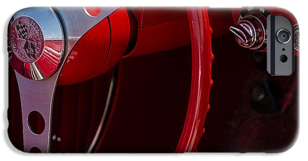 Custom Made iPhone Cases - Chevrolet Corvette Red 1962 iPhone Case by Susan Candelario