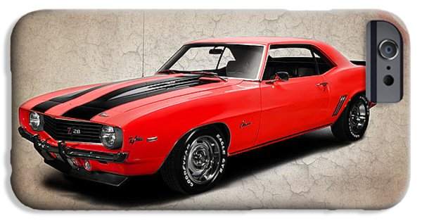 Muscle iPhone Cases - Chevrolet Camaro Z 28 iPhone Case by Mark Rogan