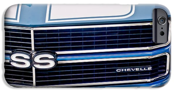 Automotive Photographer iPhone Cases - Chevrolet Chevelle SS Grille Emblem 2 iPhone Case by Jill Reger