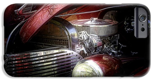 Car Hod Photographs iPhone Cases - Chevrolet Master Deluxe 1939 iPhone Case by Tom Mc Nemar