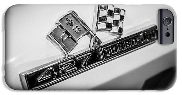 Turbo iPhone Cases - Chevy Corvette 427 Turbo-Jet Emblem iPhone Case by Paul Velgos