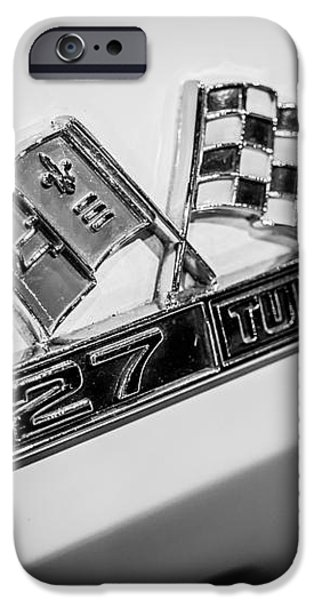 Chevy Corvette 427 Turbo-Jet Emblem iPhone Case by Paul Velgos