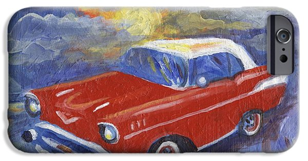 Cars iPhone Cases - Chevy Dreams iPhone Case by Linda Mears