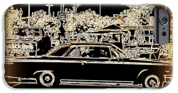 Matting iPhone Cases - Chevy Glow iPhone Case by Bobbee Rickard