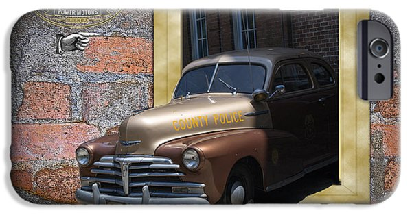 Police Art iPhone Cases - Chevy Roll-Out iPhone Case by Larry Bishop