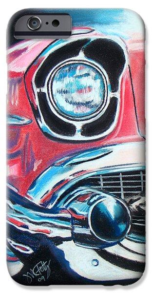Automotive Pastels iPhone Cases - Chevy Style iPhone Case by Michael Foltz