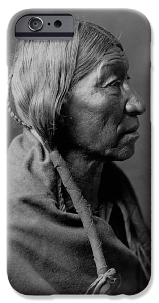 Braids iPhone Cases - Cheyenne Indian Woman circa 1910 iPhone Case by Aged Pixel