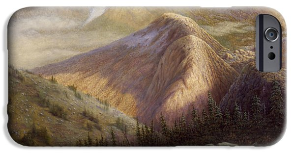 Western Art Digital Art iPhone Cases - Cheyenne Valley Wyoming iPhone Case by Gregory Perillo