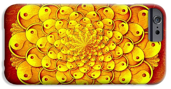 Yin iPhone Cases - Chi iPhone Case by Photodream Art
