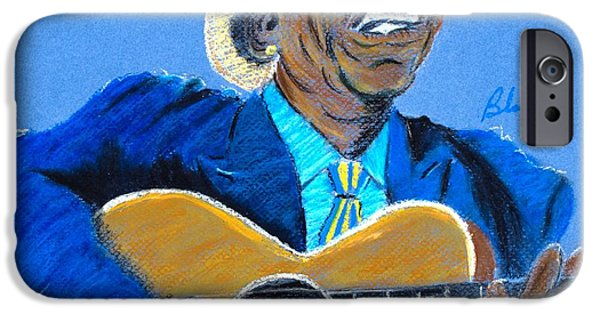 African-american Pastels iPhone Cases - Chi-Town Blues iPhone Case by Charlie Black