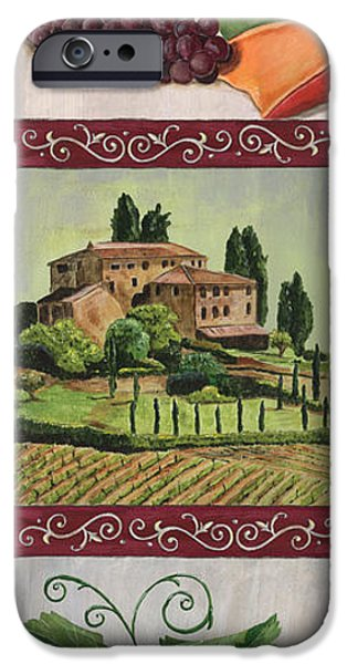 Vine Leaves iPhone Cases - Chianti and Friends Collage 1 iPhone Case by Debbie DeWitt