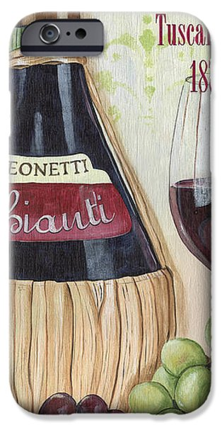 Wine Glasses Paintings iPhone Cases - Chianti Classico iPhone Case by Debbie DeWitt