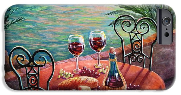 Patio Table And Chairs iPhone Cases - Chianti Time iPhone Case by Marilyn Smith