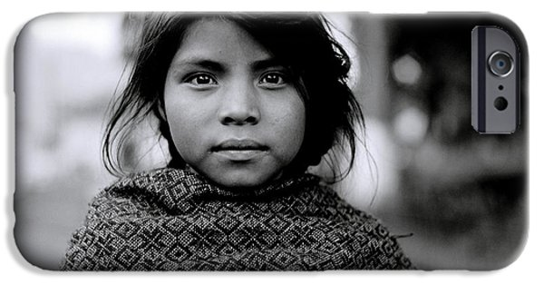 Eerie iPhone Cases - Chiapas Girl iPhone Case by Shaun Higson
