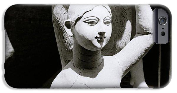Hindu Goddess iPhone Cases - Chiaroscuro Goddess iPhone Case by Shaun Higson