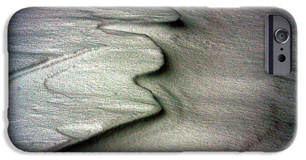 Drifting Snow Photographs iPhone Cases - Chiberia - Snow Ripple iPhone Case by Greg Thiemeyer