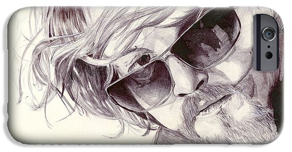 Kim Drawings iPhone Cases - Chibs Telford iPhone Case by Kyle Willis