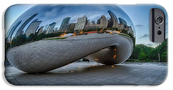 Sears Tower iPhone Cases - Chicago - Cloudgate Reflections iPhone Case by Lindley Johnson