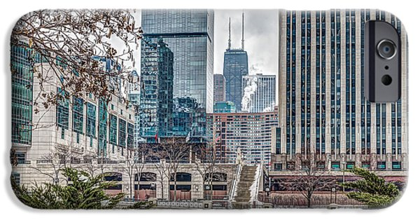 Winter Scene iPhone Cases - Chicago 25 iPhone Case by Patrick Daniel Trombly