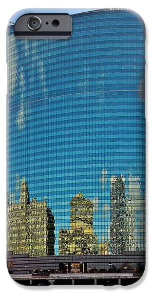 Interior Scene iPhone Cases - Chicago - 333 West Wacker Drive iPhone Case by Christine Till
