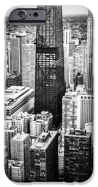 Hancock Building iPhone Cases - Chicago Aerial Vertical Panoramic Picture iPhone Case by Paul Velgos