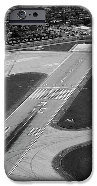 Chicago AirPlanes 04 Black and White iPhone Case by Thomas Woolworth