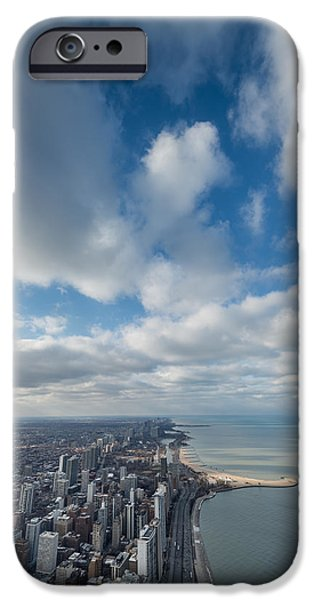 Lake Shore Drive iPhone Cases - Chicago Aloft iPhone Case by Steve Gadomski