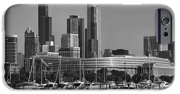 Soldier Field iPhone Cases - Chicago and Soldier Field iPhone Case by Michael Paskvan