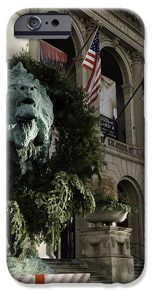 Chicago Art Institute Guardian iPhone Case by Sebastian Musial