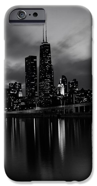 Willis Tower iPhone Cases - Chicago at Dusk iPhone Case by Mountain Dreams