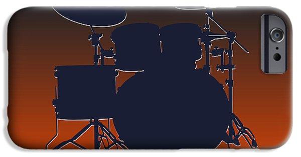 Drum Sets iPhone Cases - Chicago Bears Drum Set iPhone Case by Joe Hamilton