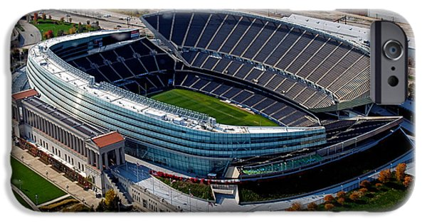 Soldier Field iPhone Cases - Chicago Bears Soldier Field iPhone Case by Thomas Woolworth