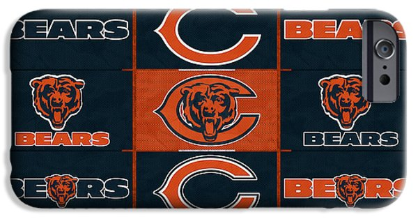 Recently Sold -  - Chicago iPhone Cases - Chicago Bears Uniform Patches iPhone Case by Joe Hamilton