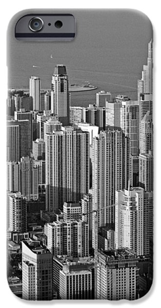 Interior Scene iPhone Cases - Chicago - Birds-Eye-View iPhone Case by Christine Till
