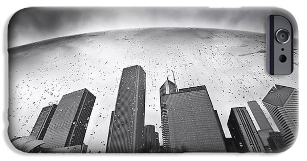 The Bean iPhone Cases - Chicago Black and White Photography iPhone Case by Dapixara Art