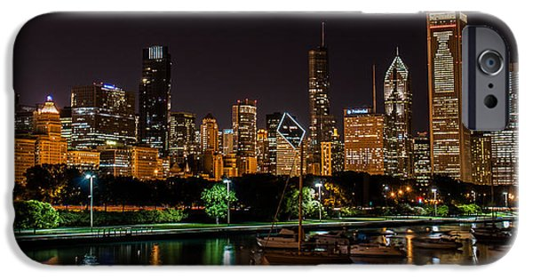 Recently Sold -  - Sailboats iPhone Cases - Chicago Black Hawks Skyline iPhone Case by Christopher Broste