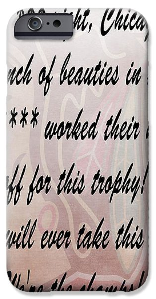 Chicago Blackhawks Crawford's Speech iPhone Case by Dan Sproul