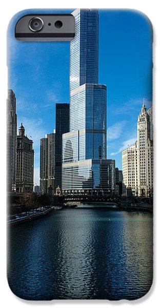 Business Photographs iPhone Cases - Chicago Blues iPhone Case by Georgia Mizuleva
